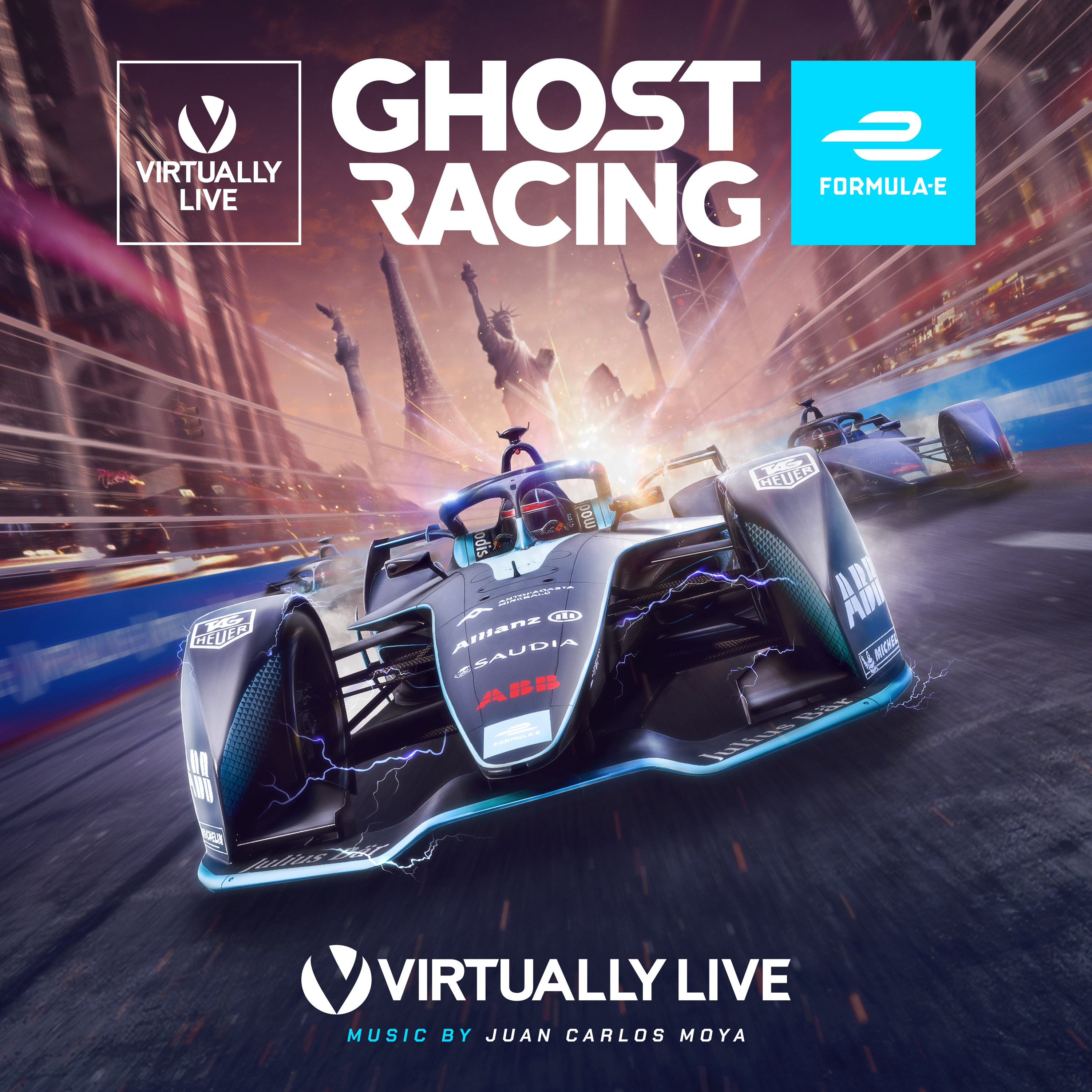 "Original Soundtrack and Sound Design for ""Ghost Racing: Formula E"" game by Virtually Live (2019)"